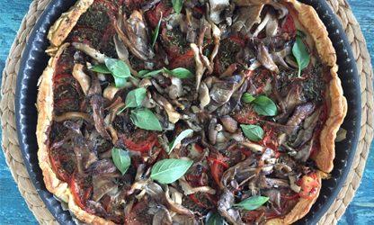 tarte tomates pleurotes